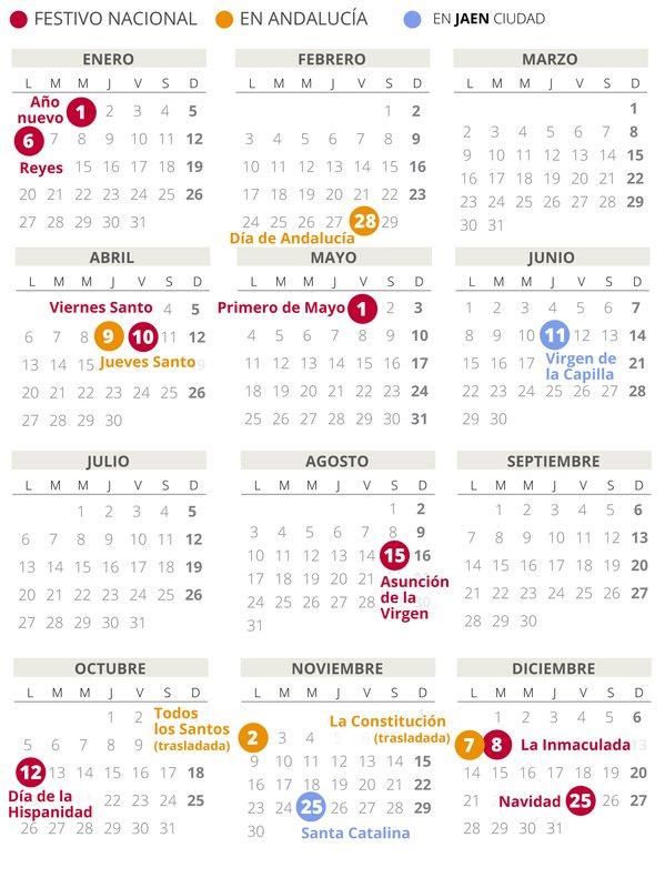 calendario laboral jaen 2020